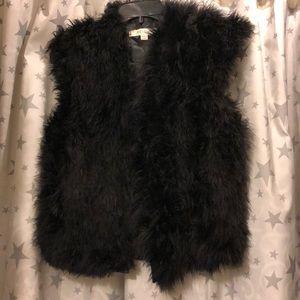 Reiss Marabou Fur Feather Vest